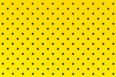 Fototapeta tapeta vzor černé tečky ve žluté barvě pozadí