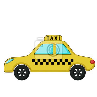 Taxi Ikona Auto Kresleny Styl Fototapeta Fototapety Pocitac
