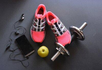 Fototapeta tenisky, oblečení pro fitness