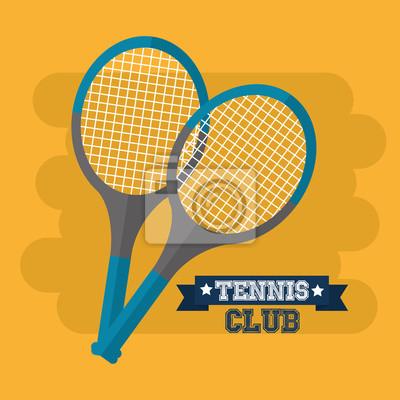 Fototapeta tenisový klub rakety sportovní vybavení vektorové ilustrace 804df112e0