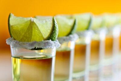 Fototapeta tequila, vápno a sůl