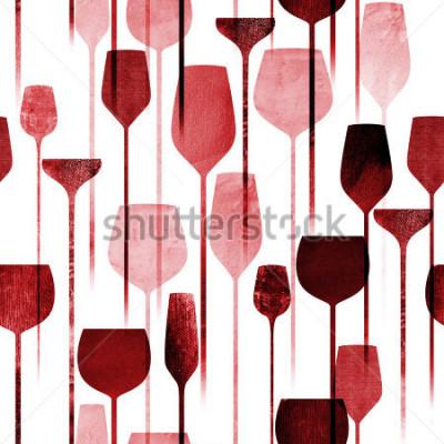 Fototapeta Textured papír koláž umění party nápoje bezproblémové vzor, koncepční barevné alkohol nápoje opakování pozadí pro web a tiskové účely.