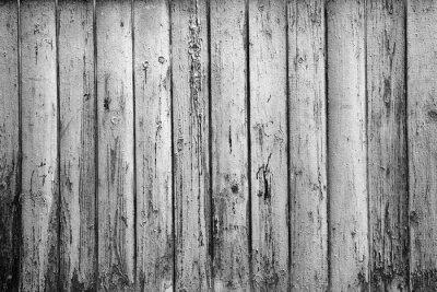 Fototapeta texturou pozadí starých prken. Černobílá fotografie