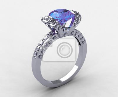 Tiffany 18k Bile Zlato Diamant Stuha Zasnubni Prsten Fototapeta
