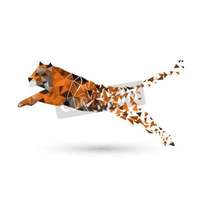 Fototapeta Tiger polygonů