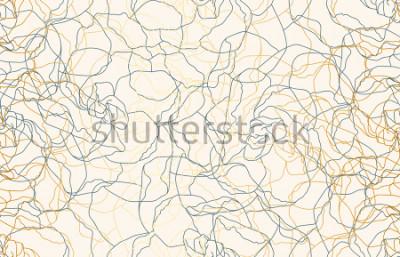Fototapeta Tisk bezešvé vintage doodle opakovat vzorek pozadí. Tapeta, rastrové ilustrace v super Vysoké rozlišení.