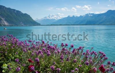 Fototapeta toto je fotka horské krajiny, Švýcarsko