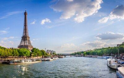Fototapeta Tour Eiffel et pont d'Iéna
