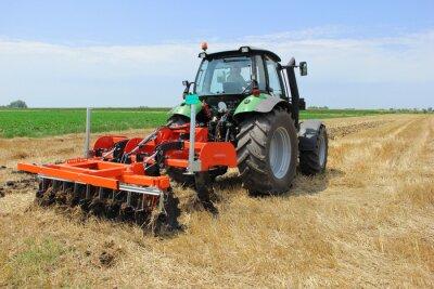 Fototapeta Traktor na poli