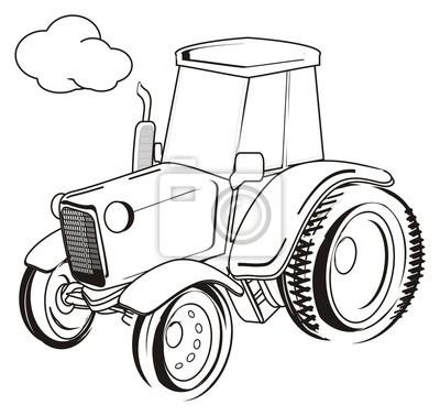 Traktor Vozova Transportniho Farme Kresleny Kreslenye