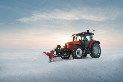 Fototapeta Traktory úklid sněhu