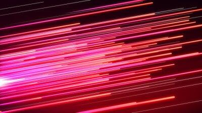 Fototapeta Traťová rychlost Růžové a červené
