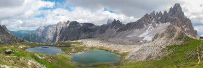 Fototapeta Trekking v národním parku Tre Cime, Dolomity