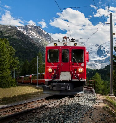 Fototapeta trenino rosso del Bernna
