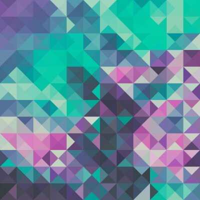 Fototapeta Triangle background, green and violet