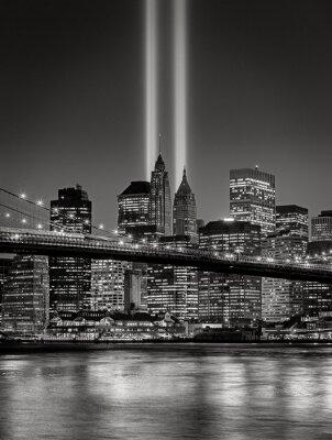 Fototapeta Tribute ve světle, 11. září vzpomínkových, New York City