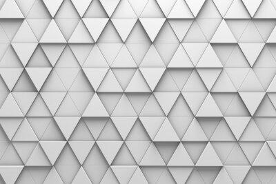 Fototapeta Trojúhelníkové dlaždice 3D vzorková zeď