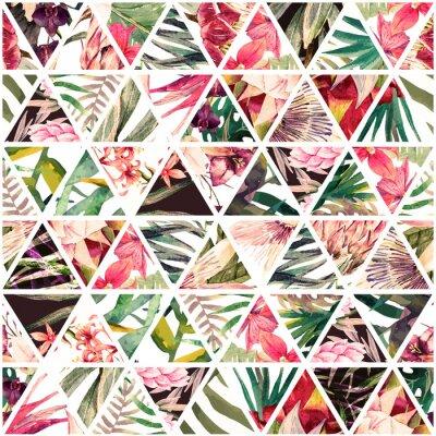 Fototapeta Tropické akvarelové patchwork