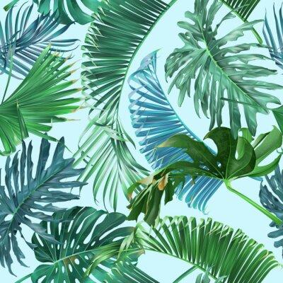 Fototapeta Tropické listy vzor