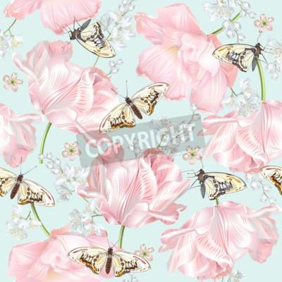 Fototapeta Tulip butterfly pattern