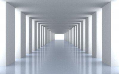 Fototapeta Tunel bílé světlo