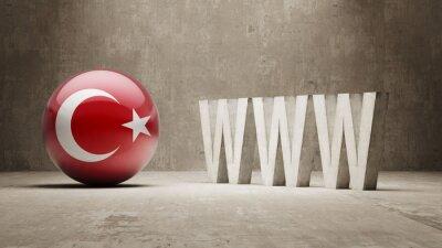 Turecko. WWW Concept.