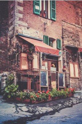 Fototapeta Tuscan restaurant