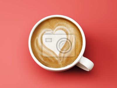 Tvaru srdce Coffee Cup Concept