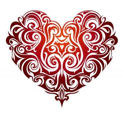 Fototapeta tvaru srdce ornament