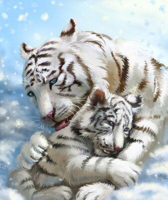Fototapeta tygr rodina