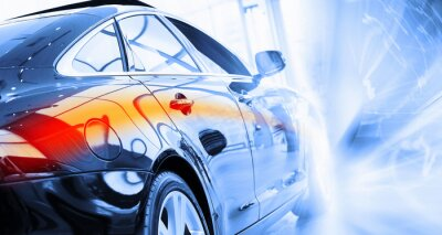 Fototapeta TYLNY widok luksusowego samochodu