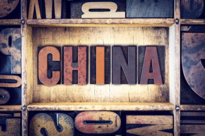 Fototapeta Typ China Concept Letterpress