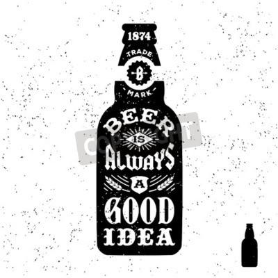 Fototapeta typografie monochromatický bederní vinobraní štítek, odznak