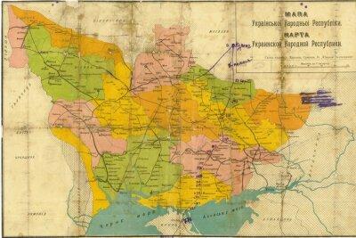 Fototapeta Ukrajina ročník mapa