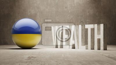 Ukrajiny. Bohatství Concept.