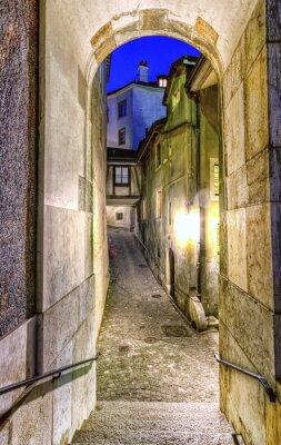 Fototapeta Ulice ve starém městě, Ženeva, Švýcarsko