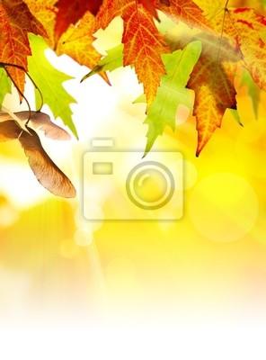 Umění abstraktní podzim pozadí