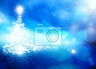 umění abstraktní vánoční modré pozadí