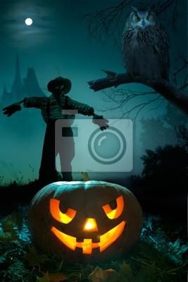 umění Halloween noc pozadí