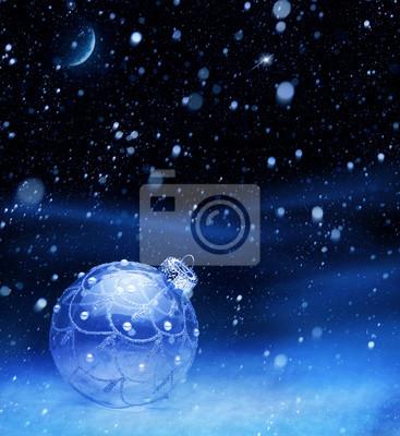 umění modrá vánoční ples