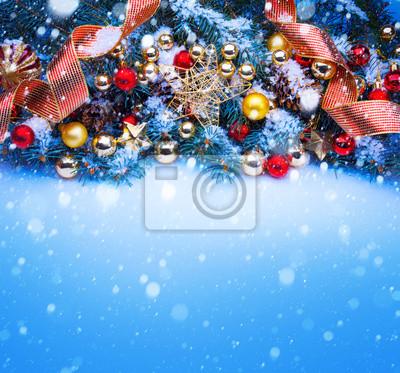 umění modrá vánoční přání