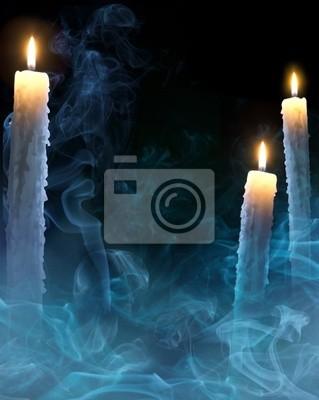 umění pozadí s svíčky na Halloween party