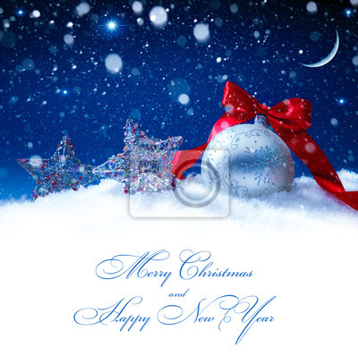 umění sníh vánoční dekorace magické světla na pozadí