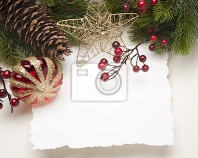 Umění vánoční přání s kopií prostor pro text
