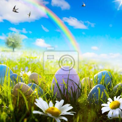 umění velikonoční vejce na jaře pole