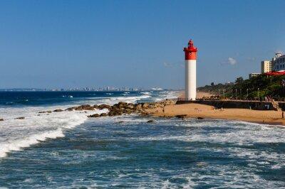 Fototapeta Umhlanga Leuchtturm mit Durban als pozadí; südafrika