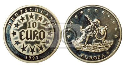 2d941a6dc Unikátní mince z německa fototapeta • fototapety 1997, euro, unie ...