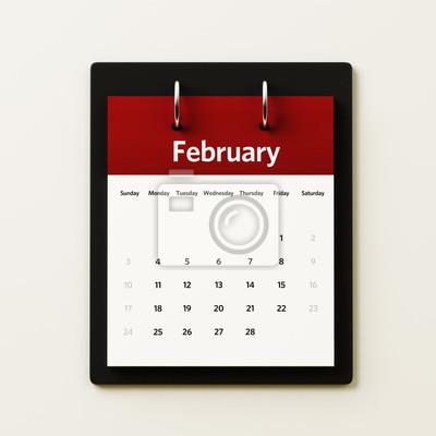 Února Kalendář Plánování