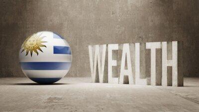 Uruguay. Bohatství Concept.