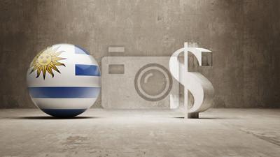 Uruguay. Peníze Sign koncept.